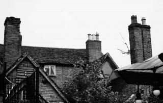 Elizabethan chimneys in Warwickshire, England