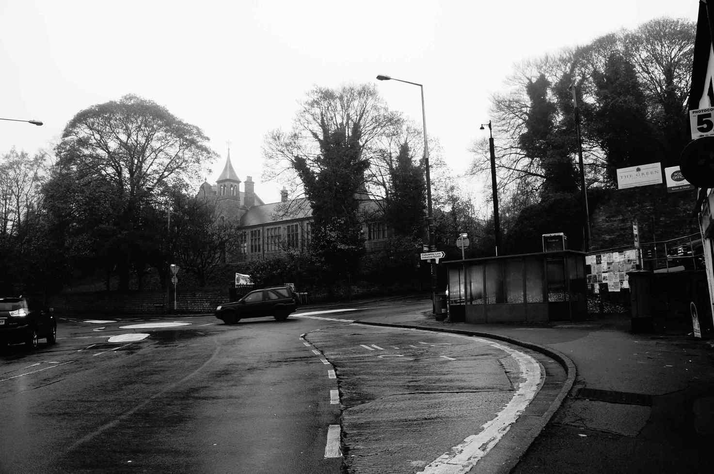 Rainy town junction
