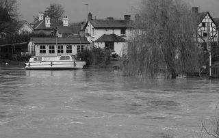 Tied boat in Warwickshire, England