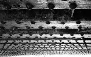 Bridge rivets in Worcestershire, England