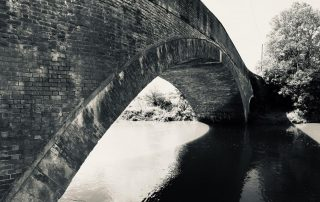 Hooped bridge in Warwickshire, England