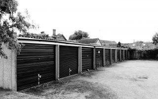 Peoples garages in Warwickshire, England