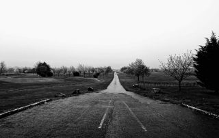 Lonely single track road