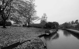 Wet Barge in Worcestershire, England