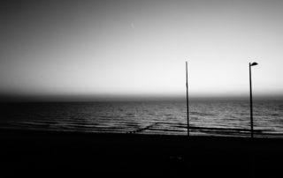 Dusk Beach in Yorkshire, England