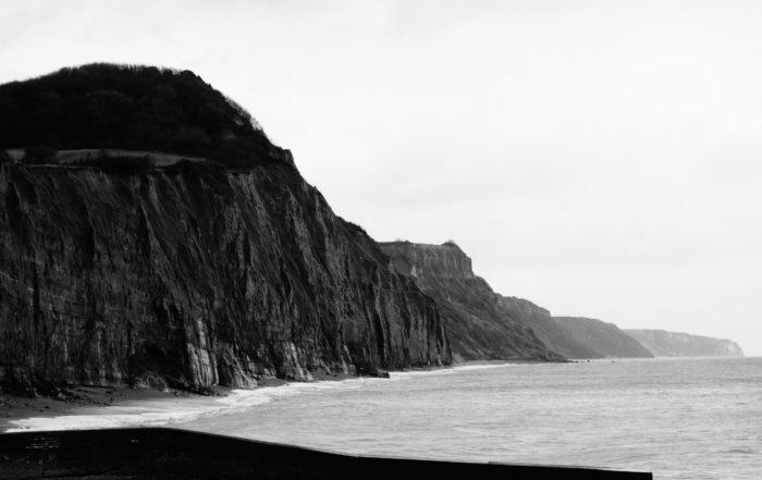 Decaying cliffs in Devon, England