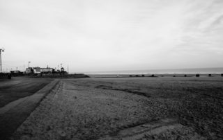 Flat Sand Buildings in Lincolnshire, England