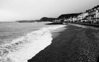 A cold February beach in Devon, England