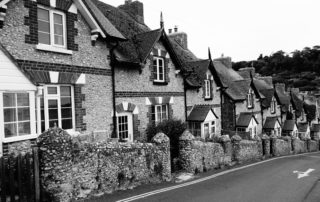 Some cottages in south Devon, England