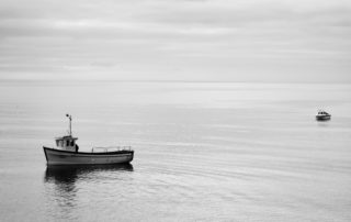 A lonely fishing boat in south Devon waters