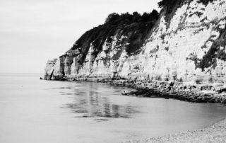 Some chalky cliffs in south Devon, England