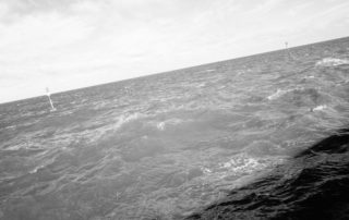 Close up of choppy sea around Norfolk, England