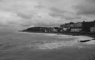 An afternoon choppy sea in Norfolk, England