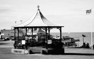 A seaside band stand in Norfolk, England