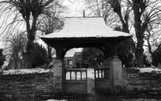 Frozen Gates in Warwickshire, England